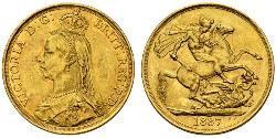 2 Pound Regno Unito  Oro Vittoria (1819 - 1901)