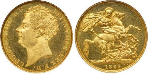 2 Pound Regno Unito di Gran Bretagna e Irlanda (1801-1922) Oro Giorgio IV (1762-1830)