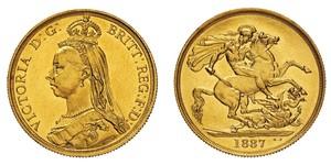 2 Pound Reino Unido Oro Victoria (1819 - 1901)