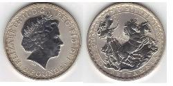 2 Pound United Kingdom (1922-) Silver Elizabeth II (1926-)