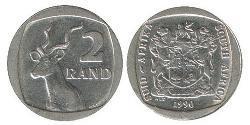2 Rand Südafrika Kupfer/Nickel