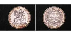 2 Real Guatemala (1838 - ) Argent