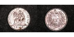 2 Real Guatemala (1838 - ) Argento