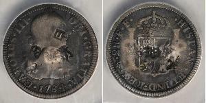 2 Real Vicereame della Nuova Spagna (1519 - 1821) Argento Carlo III di Spagna (1716 -1788)