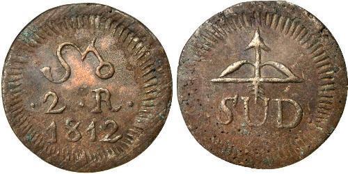 2 Real Nouvelle-Espagne (1519 - 1821) Laiton