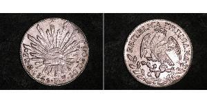2 Real Estados Unidos Mexicanos (1846 - 1863) Plata