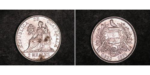 2 Real Guatemala (1838 - ) Plata