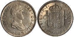 2 Real Bolivien Silber Ferdinand VII. von Spanien (1784-1833)