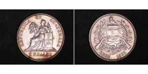 2 Real República de Guatemala (1838 - ) Silber
