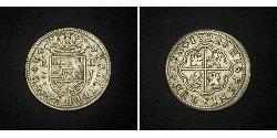 2 Real Spanisches Kolonialreich (1700 - 1808) Silber