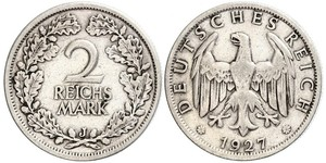 2 Reichsmark Веймарская республика (1918-1933) Серебро