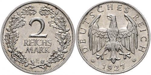 2 Reichsmark 魏瑪共和國 (1919 - 1933) 銀