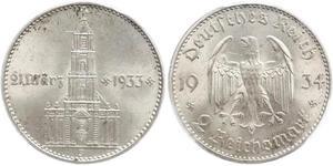 2 Reichsmark Deutsches Reich (1933-1945) Silber