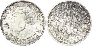 2 Reichsmark Nazi Germany (1933-1945) Silver Martin Luther