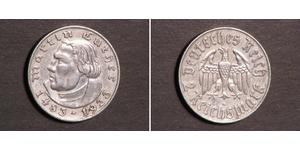 2 Reichsmark Nazi Germany (1933-1945) Silver