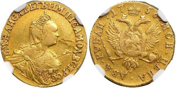 2 Rubel Russisches Reich (1720-1917) Gold Jelisaweta I Petrowna (1709-1762)