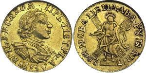 2 Ruble 俄罗斯帝国 (1721 - 1917) 金 彼得大帝(1672-1725)
