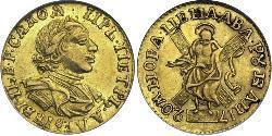 2 Rublo Imperio ruso (1720-1917) Oro Pedro I de Rusia(1672-1725)