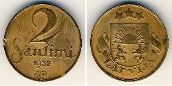 2 Santims Latvia Bronze