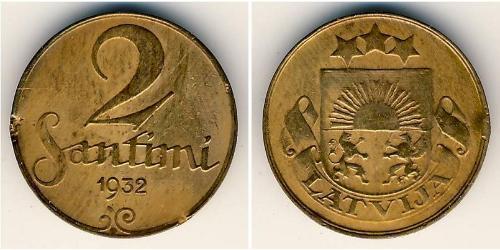 2 Santims Latvia Bronze