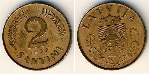 2 Santims Letlönj Bronze
