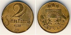 2 Santims Lettland Bronze