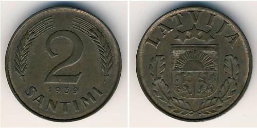 2 Santims Lettland Bronze