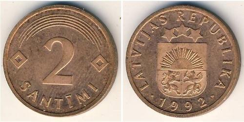 2 Santims Lettonie (1991 - ) Bronze