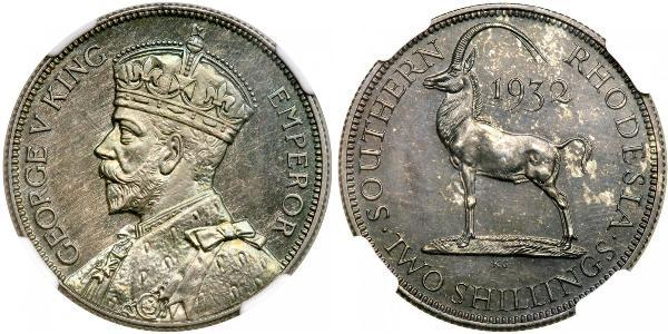 2 Shilling 南羅德西亞 銀 乔治五世  (1865-1936)