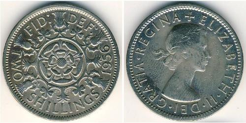 2 Shilling United Kingdom (1922-) 銅/镍 伊丽莎白二世 (1926-)