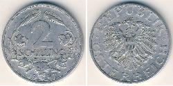 2 Shilling Austria ocupada  (1945-1955) Aluminio