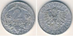 2 Shilling Allied-occupied Austria (1945-1955) Aluminium