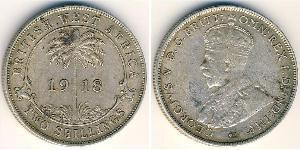 2 Shilling Africa occidentale britannica (1780 - 1960) Argento Giorgio V (1865-1936)