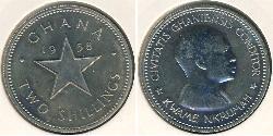 2 Shilling Ghana Copper/Nickel