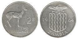 2 Shilling Zambia (1964 - ) Copper/Nickel