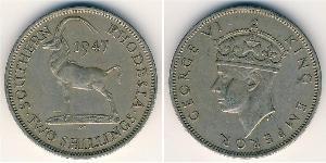 2 Shilling Southern Rhodesia (1923-1980) Cuivre/Nickel George VI (1895-1952)