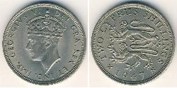 2 Shilling British Cyprus (1878 - 1960) Kupfer/Nickel