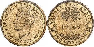 2 Shilling África Occidental Británica (1780 - 1960) Níquel