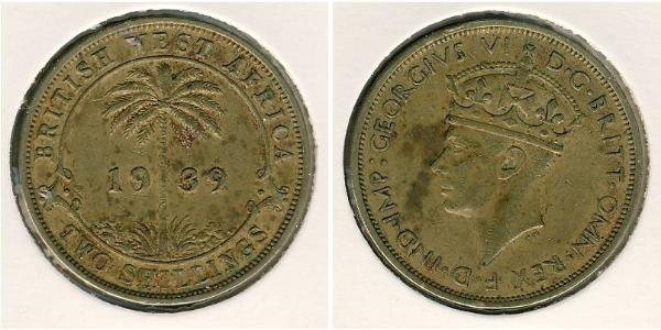 2 Shilling Africa occidentale britannica (1780 - 1960) Nichel