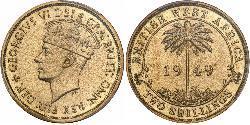 2 Shilling Britisch-Westafrika (1780 - 1960) Nickel