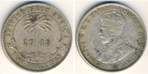2 Shilling África Occidental Británica (1780 - 1960) Plata Jorge V (1865-1936)