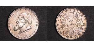 2 Shilling Primera República de Austria (1918-1934) Plata