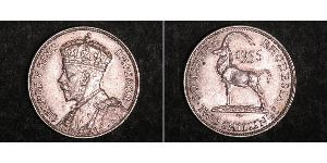 2 Shilling Southern Rhodesia (1923-1980) Plata Jorge V (1865-1936)