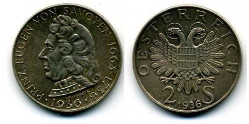 2 Shilling Federal State of Austria (1934-1938) Silber