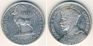 2 Shilling Southern Rhodesia (1923-1980) Silber George V (1865-1936)