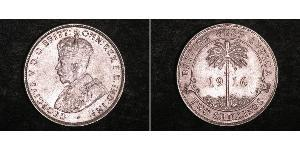 2 Shilling British West Africa (1780 - 1960) Silver George V of the United Kingdom (1865-1936)