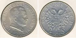 2 Shilling Federal State of Austria (1934-1938) Silver