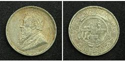 2 Shilling South Africa Silver Paul Kruger (1825 - 1904)