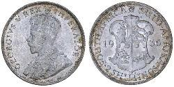 2 Shilling South Africa Silver George V of the United Kingdom (1865-1936)