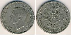 2 Shilling United Kingdom Silver George VI (1895-1952)